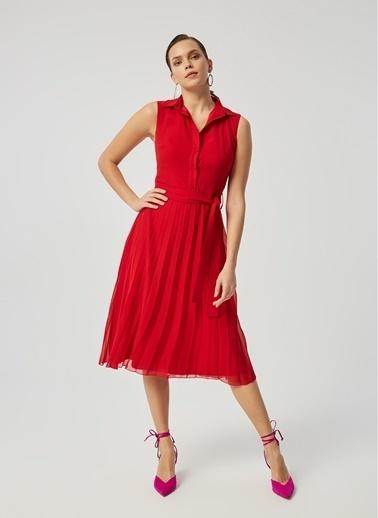 Monamoda Elbise Kırmızı